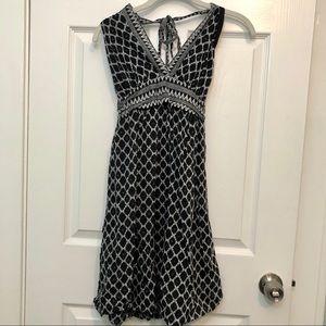 BCBG MaxAzria Silk Blend Halter Dress Diamond XS